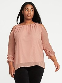 Plus-Size Cold-Shoulder Top