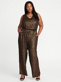 Plus-Size Sleeveless Jumpsuit