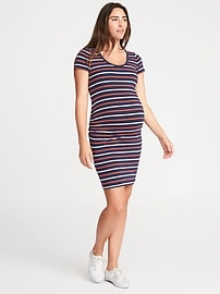 Maternity Bodycon Scoop-Neck Dress