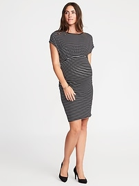 Maternity Dolman-Sleeve Bodycon Dress