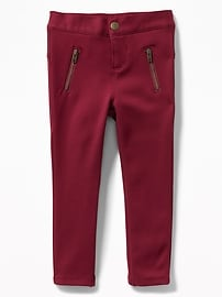 Cozy-Lined Ponte-Knit Pants for Toddler Girls