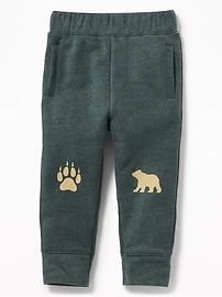 Graphic Fleece U-Shaped Pants for Toddler Boys