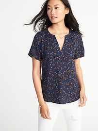 Lightweight Shirred Top for Women