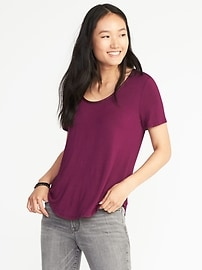 Luxe Scoop-Neck Tee for Women