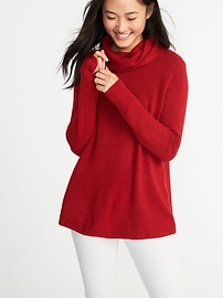 Classic Brushed-Knit Turtleneck Sweater for Women