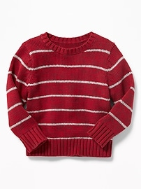Striped Crew-Neck Sweater for Toddler Boys