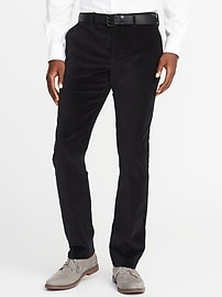 Slim Signature Built-In Flex Velvet Pants for Men