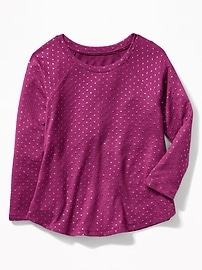 Sweater-Knit Swing Top for Girls