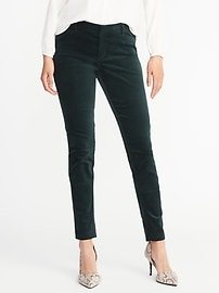 Mid-Rise Pixie Long Velvet Pants for Women