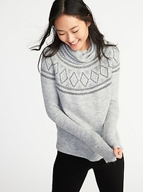Brushed-Knit Turtleneck Sweater for Women