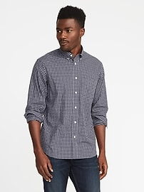 Regular-Fit Built-In-Flex Classic Shirt for Men