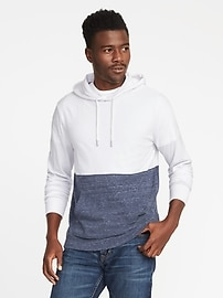 Soft-Washed Color-Block Jersey Hoodie for Men