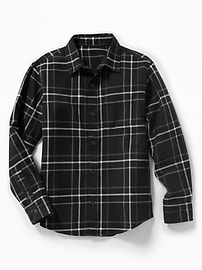 Built-In Flex Textured Flannel Shirt for Boys
