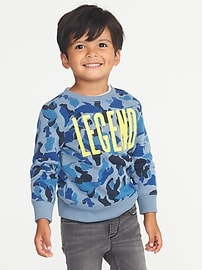 """Legend"" Camo Sweatshirt for Toddler Boys"