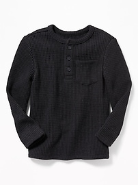 Henley en tricot gaufré isotherme pour tout-petit garçon