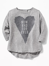 T-shirt décontracté évasé et à imprimé pour fille