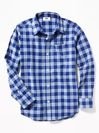 Built-In Flex Classic Plaid Shirt for Boys