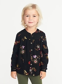 Floral-Print Tunic for Toddler Girls