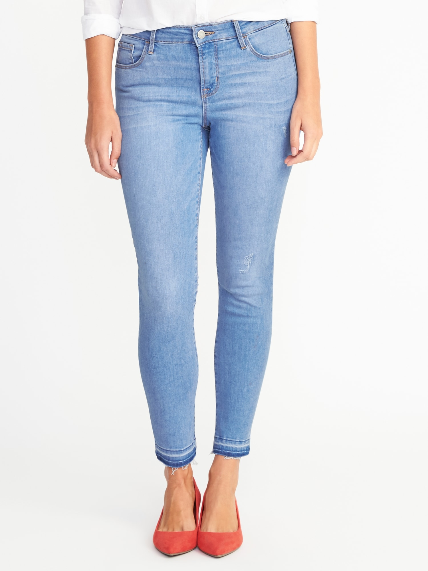 906663aeb69 Mid-Rise Built-In Sculpt Rockstar Ankle Jeans for Women