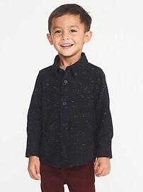 Chemise en sergé boutonnée à l'avant pour tout-petit garçon