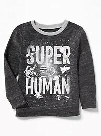 T-shirt argenté «Super Human» pour tout-petit garçon