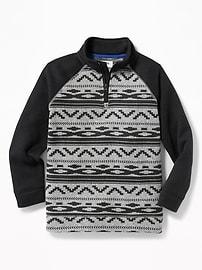 Raglan-Sleeve Fleece Pullover for Boys