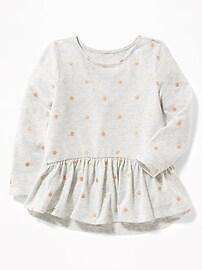 Peplum-Hem Top for Toddler Girls