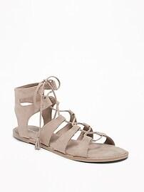 Sandales de gladiateur à lacets pour femme