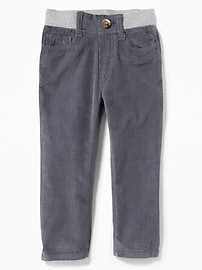 Rib-Knit Waist Cords for Toddler Boys