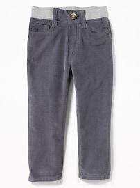 Pantalon en velours côtelé à taille en tricot côtelé pour tout-petit