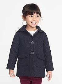 Manteau métallique à chevrons pour toute-petite fille
