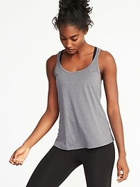 Go-Dry Strappy Mesh Tank for Women