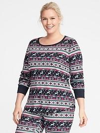 Haut décontracté en tricot gaufré, taille Plus