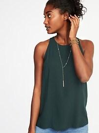 Relaxed High-Neck Sleeveless Blouse for Women
