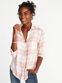 Relaxed Lightweight Twill Shirt for Women