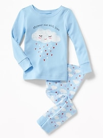 2-Piece Cloud-Graphic Sleep Set for Toddler & Baby