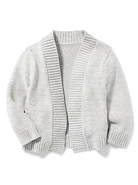 Open-Front Pointelle Cardi for Toddler Girls
