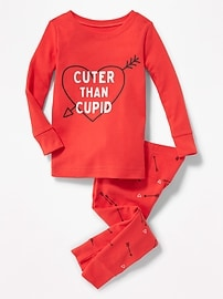 "2-Piece ""Cuter Than Cupid"" Graphic Sleep Set for Toddler & Baby"