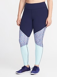 High-Rise Go-Dry Plus-Size Compression Leggings