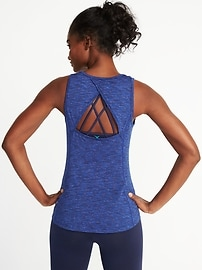 Go-Dry Keyhole-Back Tank for Women