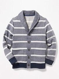 Striped Shawl-Collar Cardigan for Boys