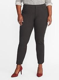 Pantalon Pixie lissant et affinant, coupe étroite à taille mi-haute, taille Plus