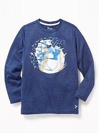T-shirt Go-Dry décontracté à imprimé pour garçon