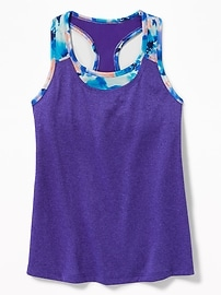 Relaxed 2-in-1 Performance Tank for Girls