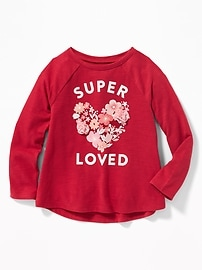Graphic Slub-Knit A-Line Tee for Toddler Girls