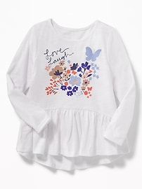 Graphic Peplum-Hem Top for Toddler Girls