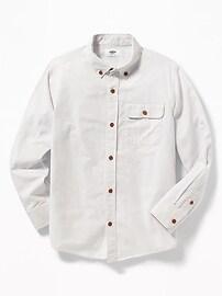 Button-Down Collar Pocket Shirt for Boys
