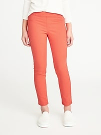 Pop-Color Pull-On Ankle Jeggings for Girls