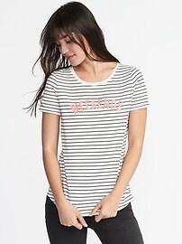 T-shirt rayé tout-aller pour femme