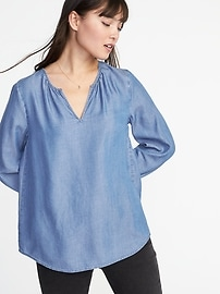 Relaxed Tencel&#174 Top for Women